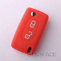 auto sticker shop - silicon red car key case cover for Citroen C3 II C4 C5 C6 DS malaysia key case stickers key ring holder auto shops parts best gift