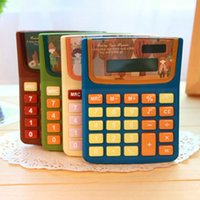 Wholesale Cute Kawaii Plastic Digits Calculator Lovely Solar Calculator for kids Girls Korean Stationery