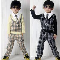 Cheap 2015 Children School Clothing Sets Korean preppy style Boys