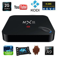 Quad Core android pc stick dual core - MXIII K Android TV BOX Amlogic S802 G G G G Dual Band WIFI Built In XBMC Mini Pc Smart Tv Stick
