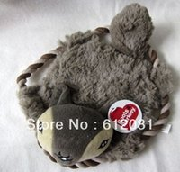 beaver dog toy - Pet dog toy Small beaver Pet Frisbee wild squirrel dog toys with cotton rope