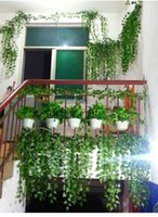 Wholesale Hot Selling Simulation Ivy Climbing Vines Green Leaf Artificial Silk Virginia Creeper Wall Decoration Home Decor