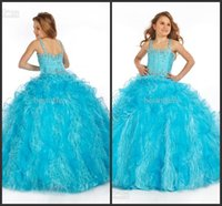 Floor-Length velvet flower - 2015 Square Blue Flower Girl Dress with Feather Bottom and Beading Velvet Floor Length Girls Occasional Dresses PT1419