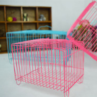 animal travel cages - Pet Rabbit Cages Travel Carry Small Animal Cages Pet Accessories wire cage with a skylight Small cage