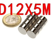 Wholesale 12 Super Powerful Strong Bulk Small Round NdFeB Neodymium Disc Magnets Dia mm x mm N35 Rare Earth NdFeB Magnet