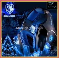 achat en gros de un casque de jeu professionnel de haute qualité-Vente en gros de haut marque de qualité SADES A60 Professional Gaming Headset Vibration Fonction 7.1 Surround Sound casque pour PC gamer écouteurs