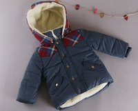 age cap - Children Hooded Coat Winter Hot Sale Thicked Cotton Boys Outwear Patched Kids Jackets With Removable Cap Fit Age SS205
