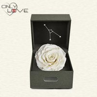preserved flower - High quality Cancer decorating flowers handmade artificial Preserved Fresh Flower Pure white rose diameter cm gift box