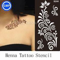 arabic templates - pc Henna Tattoo Stencil For Glitter painting Mehndi Indian Arabic Tatoo Stencils taty hot tattoo templates Kit supplier S206