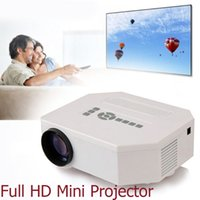 Wholesale 1080P Full HD Home Theater Mini Projector HDMI Beamer Multimedia Player For Video TV Cellphone Support VGA AV Electronic New
