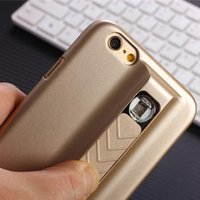 cigarette lighter case - 1PCS Iphone Case With Electronic Cigarette Lighter Function Apple Moblie Cellphone USB Cigarette Lighter Fashion Luxury case cover