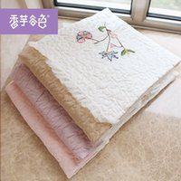 Wholesale Patchwork quilting cotton lace summer cool thin summer quilt blankets person Lu embroidery embroidery embroidery rural air condi