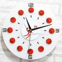 basketball clock - 12 Sports Basketball Hanging Clocks Silent Non Ticking Home Decor Fashion Decor For Public Places Living Room Office
