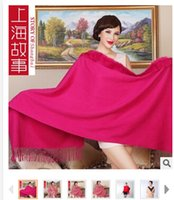 Wholesale Shanghai authentic story New winter beaver rabbit fur fur shawl High grade shawl gift