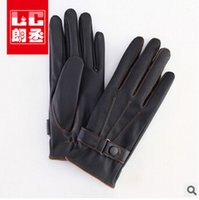 Leather gloves - 2014 sizes fashion hot selling women man warm leather gloves Men touch screen cycling glove leath outdoor gloves TOPB510