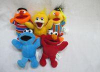 sesame street - Sesame Street Elmo Stuffed Plush Dolls Toys Keychain pendants set Key Chain Doll cm