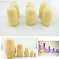Unisex art doll making - sets Wood Home Art Wood Matryoshka Dolls DIY Blank Russian Nesting Doll Make Your Own
