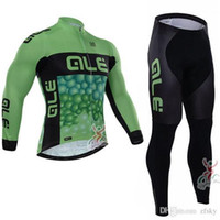 Wholesale Factory Sale Team ALE Mans Long Sleeve Bike Clothing Ropa Ciclismo Invierno Warm MTB Bicycle Jerseys Winter Thermal Fleece Cycling Clothes