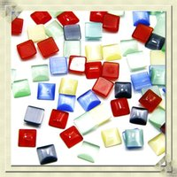 Wholesale 100pcs mm mixed color Cabochon natural stone flat square cabochons patch for making jewelry accessories jewelry