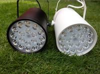 Wholesale 18W Ceiling Spot Lights LED Track Rail AC V Blue Green White Warm white Lamp Energy Saving Spotlights for Clothing Store Iluminacion
