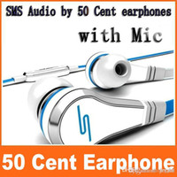 Wholesale Fashionable SMS Audio cent In Ear headphones Mini cent with mic and mute button earphone STREET by Cent earbud colors JF A6