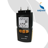 Wholesale Saipwell LCD Display Digital Wood Moisture Meter Temperature Humidity Meter Tester GM610
