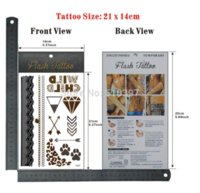 beer lacing - pc TJ005 Glitter Temporary Tattoo Lace Chain Arrow Wild Child waterproof Gold Flash fake tatoo sticker Christmas gift CE gift beer g
