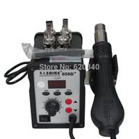 Wholesale NEW SAIKE D Digital rework station Hot air gun prestore Soldering Station wind temperature V or V W order lt no