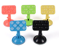 Wholesale Colorful Rubber Phone Sucker Free Rotate Degree For Car Phone Holder Stand For Samsung HTC iPod iphone With Retail Package MOQ