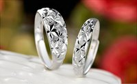 Wholesale Top Quality A A A Couple Rings lovers rings jewelry sterling silver lovers Rings Starry zircon men Rings for women rings jewelry DZ001