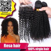 Wholesale Unprocessed Human Virgin Hair Mongolian Malaysian Kinky Curly Hair Weave hair extensions kinky curly With Closure Human hair weave