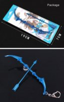 ashe size - League Of Legends LOL Game The Frost Archer Ashe Weapon Bow and Arrow Large Size Metal Pendant Key Ring Keychain In Box ZSC