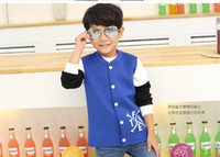 ouwear - 2105 New Arrival Children Ouwear Boys Jacket The Boy Space Cotton Color Fashion Coat The Threaded Collar Kids Clothing CD113