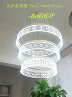 Wholesale LED pendant rings light modern LED ring suspension light free shigping