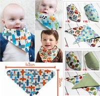 TuTu baby drool bandana - Fedex EMS DHL Ship AB two layers cartoon Animal Baby Reversible Bandana Bib Drool Bibs with Snaps quot u pick color models