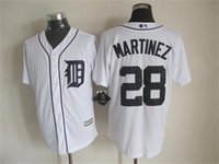Cheap Newest Baseball Jerseys Detroit Tigers 2015 Cool Base #28 Martinez Home Jersey White Color Made in Honduras Size S-XXXL Mix Order