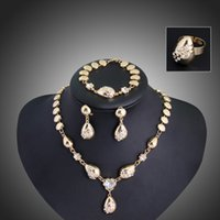 costume jewellery set - party Accessories Gold Plated jewellery Floating Charms Vogue Woman Costume African Jewelry Sets necklace sets