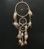 Wholesale DHL Shipping free Rings Connected handmade feather dream catcher whosale