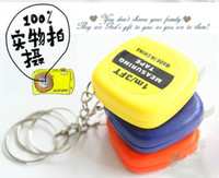 Wholesale M small tape measure mini small ruler keychain meter portable with pull foot net purchase necessary scale gift