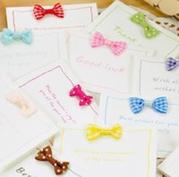 Wholesale MINI Gift Cards Greeting Cards Blessing cards with Bow tie