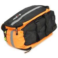 Duffel Bags bicycle rear box - 2015 hot sale Waterproof bicycle shelf package Bicycle Rear Back Luggage Carrier Bag pannier handbag travel shoulder Black Orange