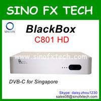 Venta al por mayor receptor del cable de Singapur de la caja negra C801 HD Singapur receptor de TV por cable DVB-C de la caja superior de la caja negra C801