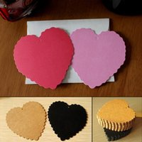 Wholesale Heart Shape Wish Tags For Wedding Decorations Hard Paper Tags Red Pink Purple Blue Yellow Kraft paper