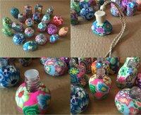 car perfume bottle - 10ml ml Car hang decoration Ceramic essence oil Perfume bottle Hang rope empty bottle