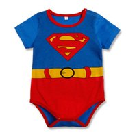 Summer 18-24M Boy 2015 NEW clothing wholesale summer Superman gentleman cool triangle climbing clothes jumpsuit fashion baby rompers