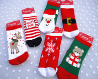 Wholesale Hot Selling Christmas Unisex Baby Kids Socks Cotton Material with Cute Different Xmas Santa Patterns Christmas Gifts for Babies Promotion