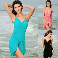 bathing suit beauties - 2015 New Beauty Women Beach Cover Ups Dark V Dresses Sex Girls Swimwear Multicolor Suit Bathing Summer Lady Swimsuit Shows Sunscreen