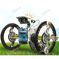 Wholesale Top in DIY Solar Powered Robot Pattern Building Block Plastic Block Assembling Puzzle Building Game Gift