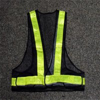 Wholesale New Disign Cool Visibility Reflective Stripe Warning Safety Security Gear Vest Traffic Working Clothes One Size Fits All