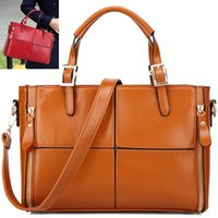 real leather handbags - Genuine leather bag fashion women handbag vintage women bag real leather shoulder bags brands women tote shopping